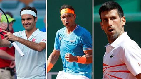 Federer chạm mốc kỷ lục mới, bỏ xa Nadal và Djokovic