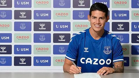 Bất ngờ với khoản phí Everton bỏ ra để sở hữu James Rodriguez