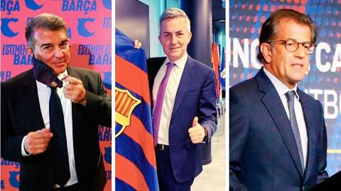 """Bầu cử Chủ tịch Barca: Cuộc đua """"tam mã"""""""