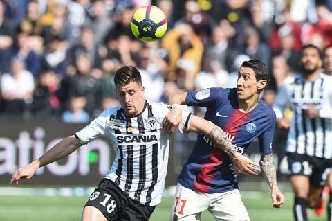 Với lực lượng mạnh nhất, PSG (áo sẫm) sẽ vùi dập con mồi quen thuộc Angers