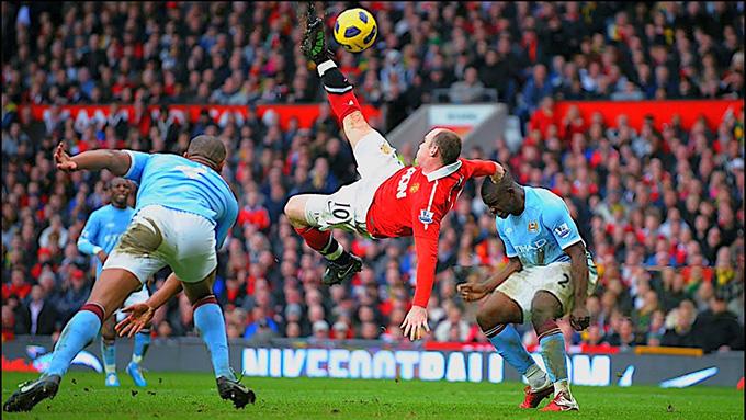 Siêu phẩm của Rooney vào lưới Man City