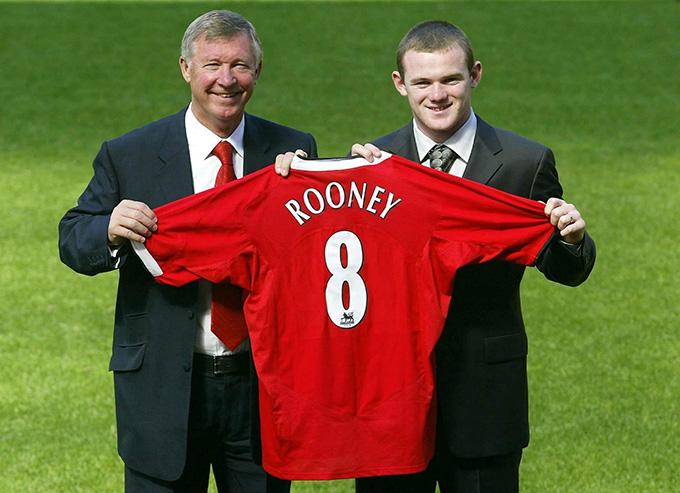 Rooney trong ngày ra mắt Man United