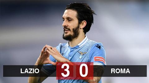 Kết quả Lazio 3-0 Roma: Cựu sao Liverpool tỏa sáng, Lazio áp sát top 4