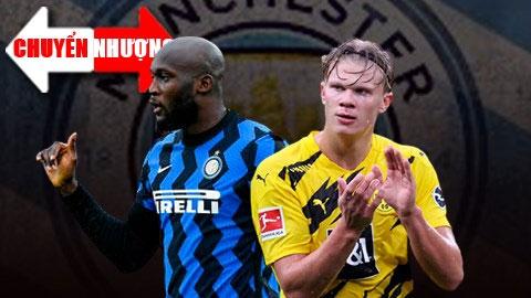 Tin chuyển nhượng 17/1: Man City nhắm 2 'sao bự' Haaland và Lukaku