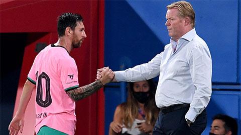 HLV Koeman nói gì về cơ hội ra sân của Messi ở chung kết Siêu cúp Tây Ban Nha?