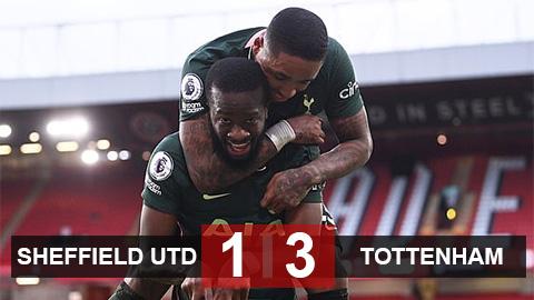 Kết quả Sheffield United 1-3 Tottenham: Spurs trở lại Top 4