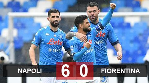 Kết quả Napoli 6-0 Fiorentina: Thắng với set tennis, Napoli bay vào top 3