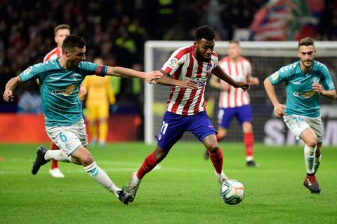 Thomas Lemar góp công lớn giúp Atletico Madrid độc chiếm ngôi đầu La Liga mùa này