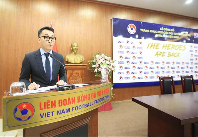 Đại diện Grand Sport Việt Nam – ông Trần Thành Trung nhấn mạnh được đồng hành cùng bóng đá Việt Nam