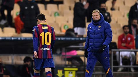 Messi nhận thẻ đỏ đầu tiên trong màu áo Barca