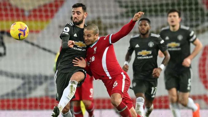 M.U chỉ có thể hòa 0-0 với Liverpool trên sân Anfield