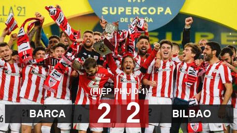 Kết quả Barca 2-2 (hiệp phụ 0-1) Bilbao: Bilbao vô địch Siêu cúp Tây Ban Nha