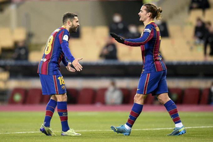 Griezmann lập cú đúp trong trận đấu giữa Barca vs Bilbao