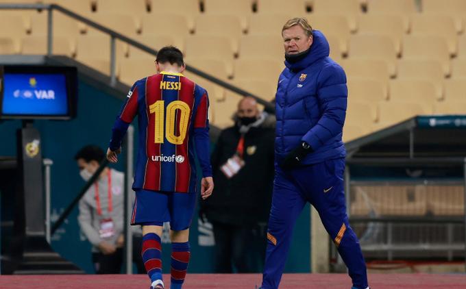 Messi nhận thẻ đỏ ở trận Barca đấu với Bilbao tại Siêu cúp Tây Ban Nha 2020