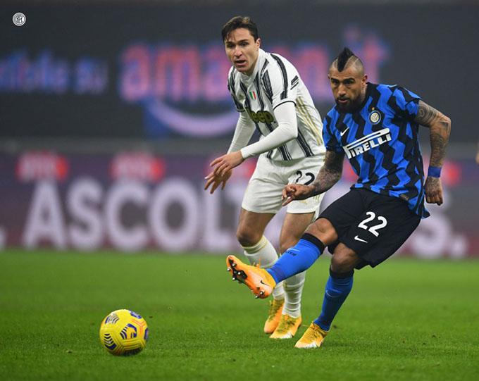 Vidal đã có trận đấu hay, góp công vào chiến thắng của Inter trước Juventus