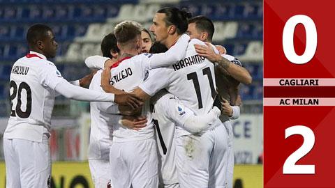 Cagliari 0-2 AC Milan (Vòng 18 Serie A 2020/21)