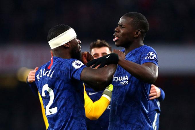 Zouma và Ruediger sẽ là bộ đôi trung vệ của Chelsea ở trận này