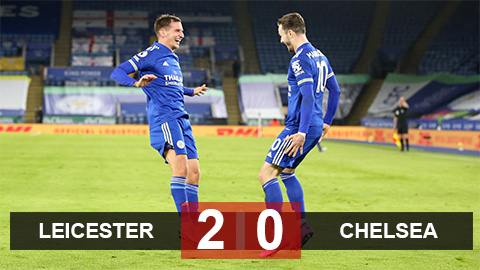 Kết quả Leicester 2-0 Chelsea: ''Bầy cáo'' chiếm đỉnh Ngoại hạng Anh