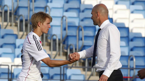 HLV Zidane hiếm khi trao cơ hội ra sân cho Odegaard