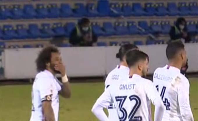 Marcelo dường như không quá quan tâm đến kết quả trận đấu
