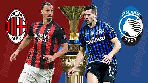 00h00 ngày 24/1: Milan vs Atalanta