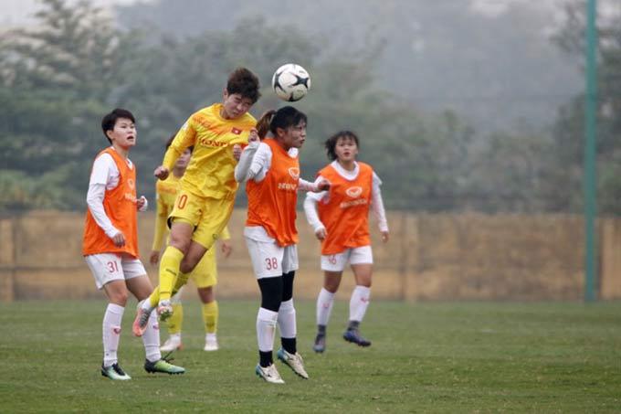 ĐT nữ Việt Nam thắng 4-0 nhưng chưa khiến ông Chung hài lòng - Ảnh: VFF