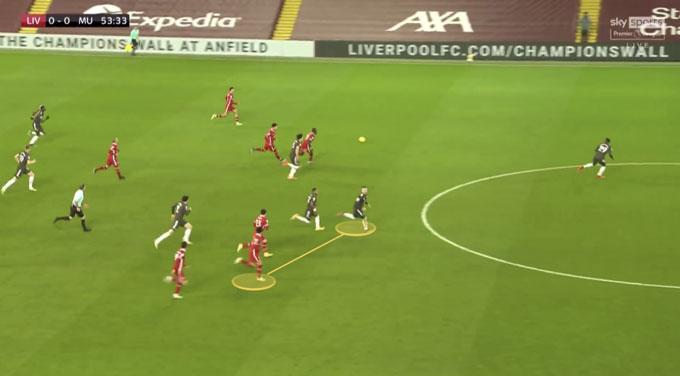 Shaw quan sát vị trí của Salah