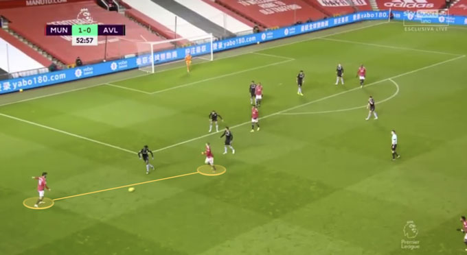 Fernandes chỉ điểm cho Shaw chạy xuống