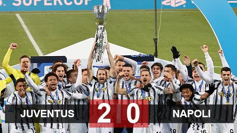 Kết quả Juventus 2-0 Napoli: Ronaldo thăng hoa, Juventus giành Siêu Cúp Italia