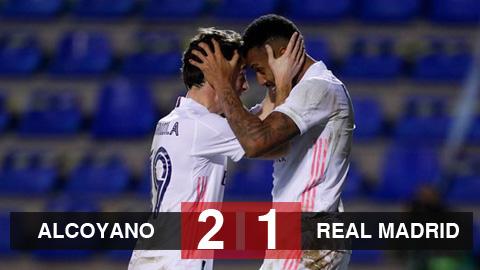 Kết quả Alcoyano 2-1 Real Madrid: Los Blancos bị loại sớm ở cúp Nhà vua