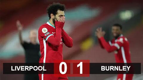 Kết quả Liverpool 0-1 Burnley: Đại địa chấn ở Anfield