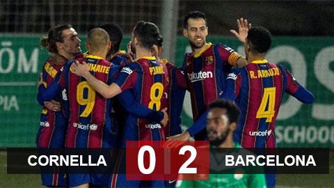 Kết quả Cornella 0-2 Barca: Ám ảnh chấm phạt đền