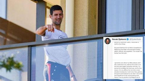 Djokovic: 'Tôi không ích kỷ, nhỏ nhen'