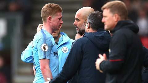 HLV Guardiola nhắn nhủ các cầu thủ Man City điều gì khi De Bruyne chấn thương?