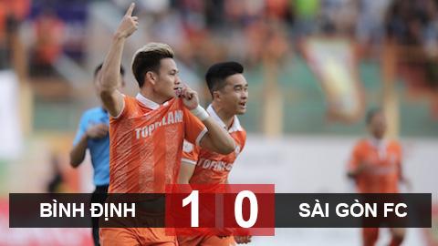 Kết quả Bình Định 1-0 Sài Gòn: Hồ Tấn Tài lập công, Bình Định có trận thắng đầu tiên