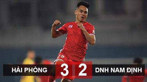 Kết quả Hải Phòng 3-2 Nam Định: Chủ nhà nối tiếp mạch chiến thắng