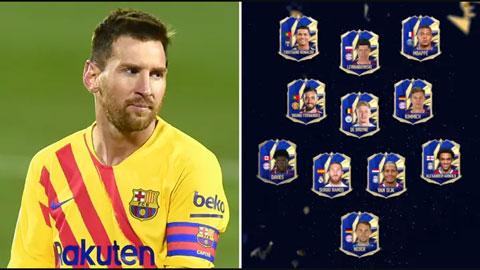 Messi lần đầu vắng mặt trong đội hình tiêu biểu game FIFA
