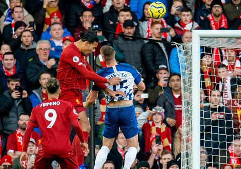 Mất Van Dijk(áo sẫm), Liverpool mất một phương án hãm thành hiệu quả trên không