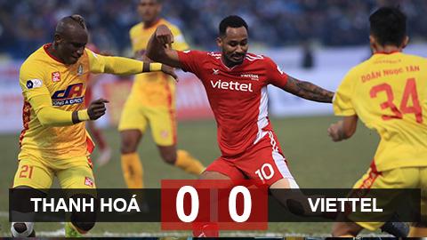 Kết quả Thanh Hoá vs Viettel: Chia điểm
