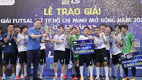 Thái Sơn Nam Quận 8 vô địch giải nữ futsal TP.HCM