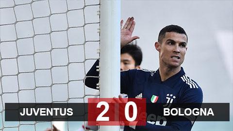 Kết quả Juventus 2-0 Bologna: Ronaldo 'tịt ngòi', Bà đầm già thành Turin vẫn thắng cách biệt