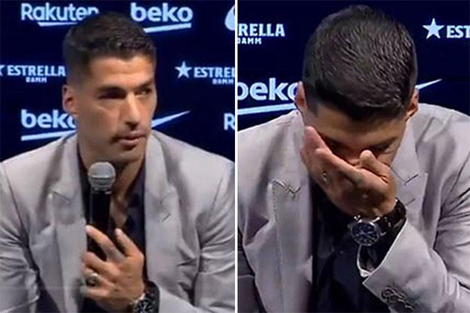 Suarez từng không cầm được nước mắt trong ngày chia tay Barca
