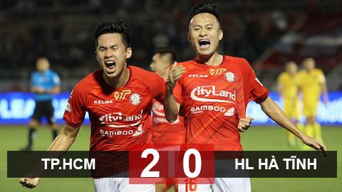 Kết quả TP.HCM 2-0 HL Hà Tĩnh: Đá hơn người, TP.HCM giành 3 điểm trọn vẹn