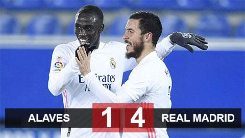 Kết quả Alaves 1-4 Real: Hazard bừng tỉnh