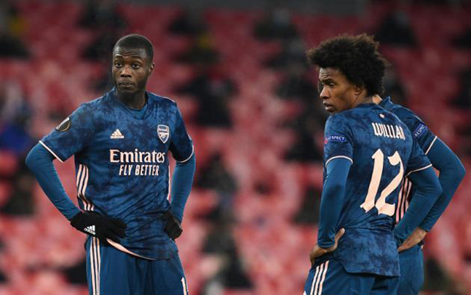 Pepe và Willian cùng gây thất vọng ở trận Southampton vs Arsenal