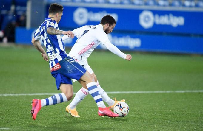 Hazard đã có màn trình diễn ấn tượng ở trận Alaves vs Real madrid