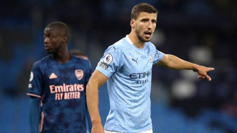Mới đến không lâu nhưng Ruben Dias đã là trụ cột nơi hàng thủ và  nhiều người tin rằng đây là đội trưởng tương lai của Man City