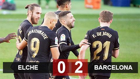 Kết quả Elche 0-2 Barca: Barca trở lại Top 3