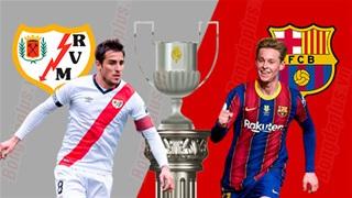 03h00 ngày 28/1, Vallecano vs Barcelona