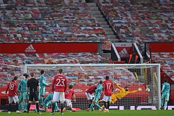 Bruno ghi bàn quyết định trận MU vs Liverpool